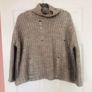 Sweaters - Cowl neck knit sweater